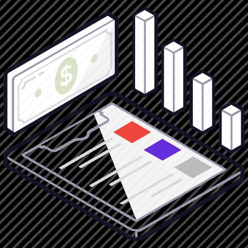 business analysis, data analysis, finance monitoring, financial analysis, statistics icon