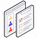 checklist, employee target list, target list, todo list, web content icon