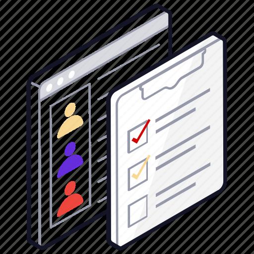 checklist, employee target list, target list, todo list, web content icon