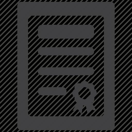 achievement, award, document, file, files, paper, prize icon