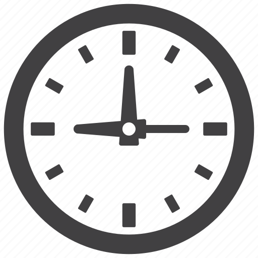 clock, hour, minute, second, time, timer, watch icon