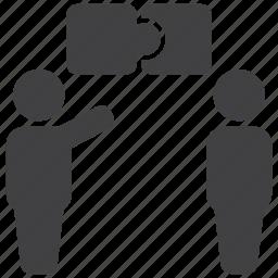 chat, communication, conversation, message, puzzle, solution, talk icon