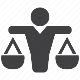 balance, court, judge, justice, law, legal, police icon