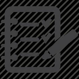 check, checklist, document, file, list, note, paper icon