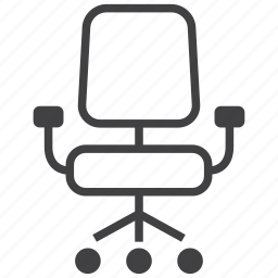 chair, desk, furniture, interior, office, seat icon