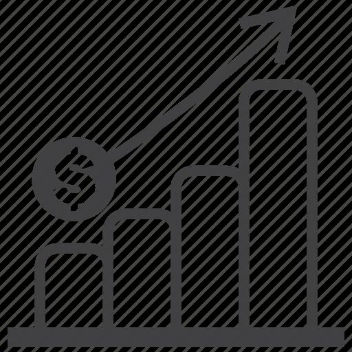 analytics, chart, graph, money, profit, statistics, turnover icon