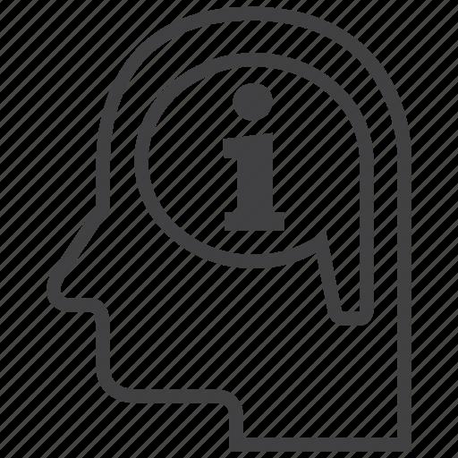 brain, creative, data, idea, info, information, thought icon