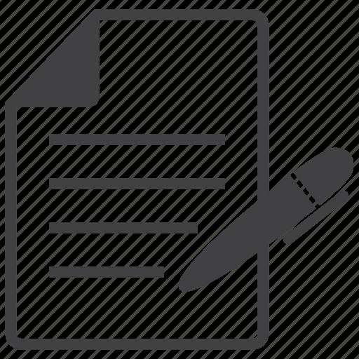 document, note, paper, pen, pencil, school, study icon