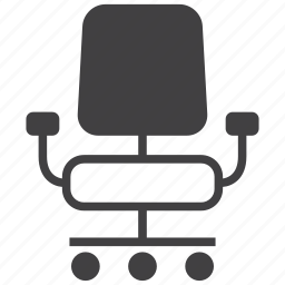 business, chair, desk, furniture, office icon