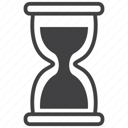 clock, glass, sand, schedule, time icon