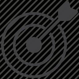 aim, arrow, bullseye, game, goal, play, target icon
