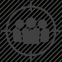aim, avatar, customer, goal, people, target, user icon