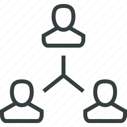 company, cooperation, group, hierarchy, people, structure, team icon