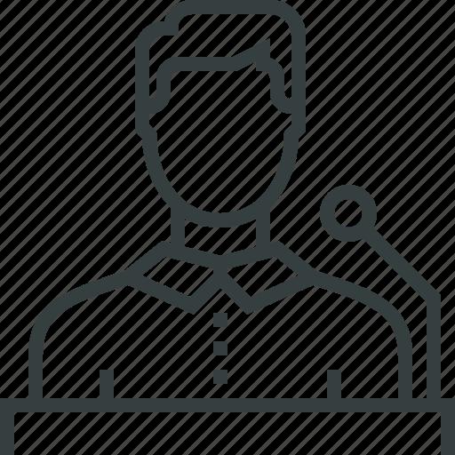 person, presentation, professional, pudlic, seminar, speaker, speech icon