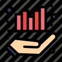 business, graph, hand, management