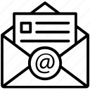 digital mail, electronic mail, email, online communication, online mail icon