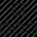 diagram, office, organization chart icon
