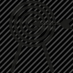 dart, focus, goal, target icon