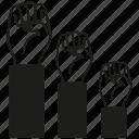 hand, rise, vote icon