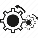gear, rotate icon