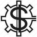 gear, money icon