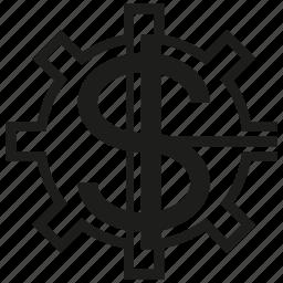 gear, money icon