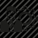 business man, gear, man