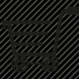 shopping, shopping cart icon