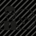 analysis, business man, chart, people, plot icon