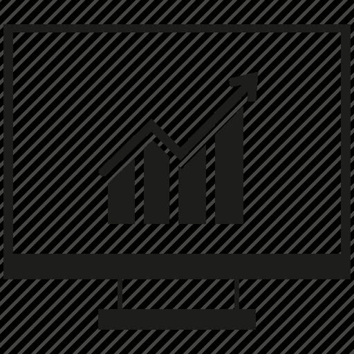 bar chart, computer, graph, growth icon