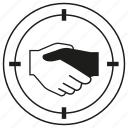 deal, focus, hand, joint, joint venture, shakehand icon
