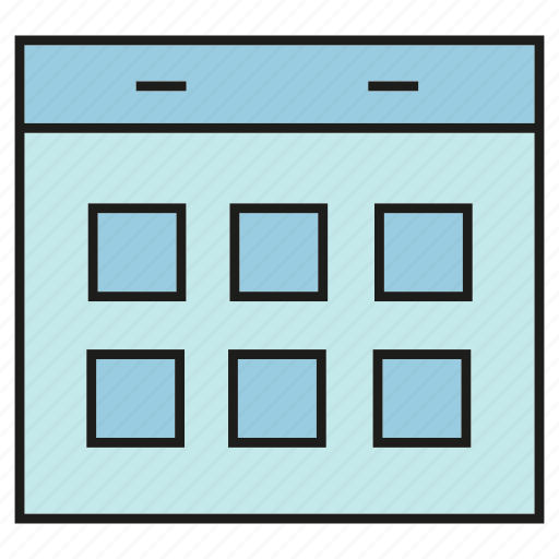 calendar, document, schedule, table icon