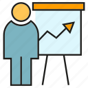 business, chart, office, organization, people, presentation, whiteboard icon