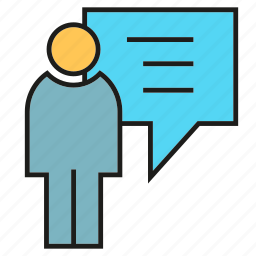 chat, communication, contulting, office, people, speech bubble icon