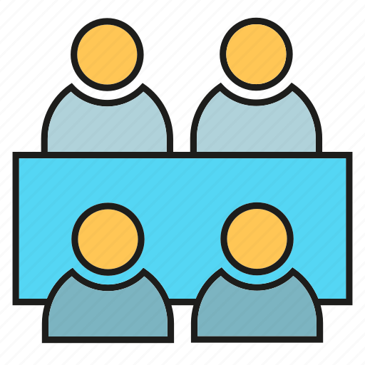 business, business meeting, consulting, management, office, organization, people icon