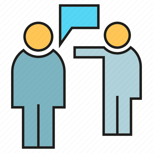 communication, consulting, people, talking icon