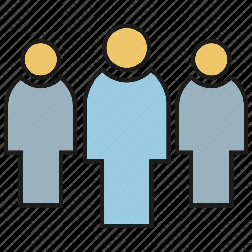 group, leader, people, teamwork icon