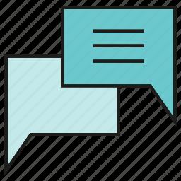 chat, communication, dialog, speech bubble icon