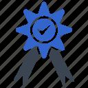 achievement, award, badge, reward, ribbon, star icon