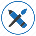 brush, creative, pen icon