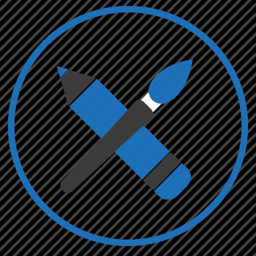 brush, creative, pen icon