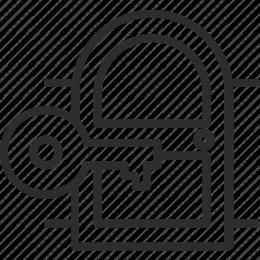 business, door, finance, key, marketing, money, open icon