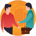 agreement, business meeting, official meeting, trade agreement, trade contract icon