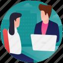 guidance counter, guide desk, office reception, reception desk, receptionist girl icon