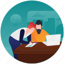 business suggestion, business talking, office suggestion, official discussion, professional discussion icon