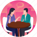 business suggestion, business talking, official conversation, official discussion, professional discussion icon