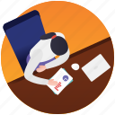 duty time, job place, office, service area, workplace icon