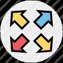 arrows, arrows expanding, expand arrows, web arrows icon