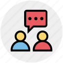 chat, message, peoples, persons, talk, users icon