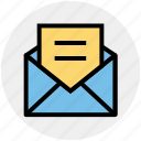envelope, letter, mail, message, open envelope, post icon